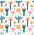 tropical beach palm trees seamless pattern vector image vector image
