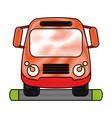 truck flat scribble vector image vector image