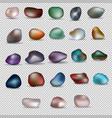 twenty-three colorful stones vector image