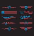 usa flag set vector image vector image