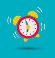 wake up icon alarm clock in bright color vector image