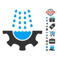 Water Shower Service Gear Icon With Free Bonus vector image
