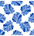 watercolor floral seamless pattern with blue vector image vector image