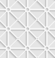 White triangular net with shadow tile ornament vector image vector image