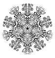 abstract mandala circular monochrome pattern vector image