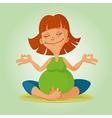 prenatal yoga vector image