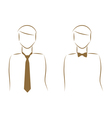 tie and bow tie vector image