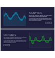 analytics and statistics data shown in graphics vector image vector image