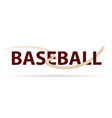 baseball logo with fly ball symbol isolated on vector image vector image