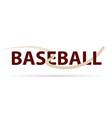 baseball logo with fly ball symbol isolated vector image