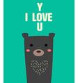Bear love u vector image vector image