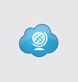 Blue cloud globe icon vector image