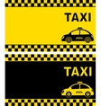 business card and retro taxi vector image vector image