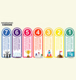business infographics step by step timeline with vector image vector image