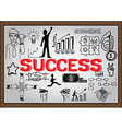 Business plan on whiteboard Success vector image vector image