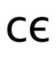 ce mark icon on white background flat style box vector image vector image