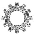cog collage of gear icons vector image vector image
