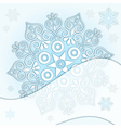 Delicate Christmas silver frame vector image vector image