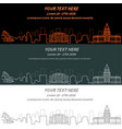 denver event banner hand drawn skyline vector image