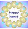 easter eggs circle yellow stars vector image vector image
