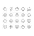 emoji line icons signs set outline vector image vector image