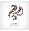 emotion people sign 3d vector image vector image