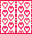 ethnic striped pink seamless pattern vector image
