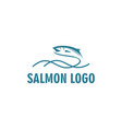 fish logo designs inspirations with wave vector image vector image
