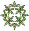 floral leaves symmetry snake symbol vector image vector image