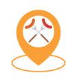 food location icon logo design element barbecue vector image vector image