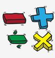 Freehand drawn cartoon math symbols vector image