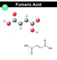 Fumaric acid molecule vector image vector image