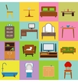 Furniture icons set flat design vector image