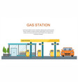 gas filling station energy vector image vector image