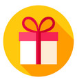 gift box circle icon vector image