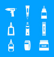 glue stick adhesive icons set simple style vector image vector image