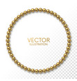 golden balls in form circle frame on white vector image vector image