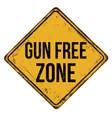 gun free zone vintage rusty metal sign vector image vector image