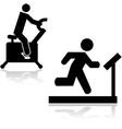 Gym icons vector image vector image