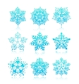 hand-drawn snowflakes silhouettes isolated vector image vector image