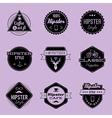 hipster emblems violet vector image vector image