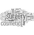 how to pay for your cosmetic surgery vector image vector image