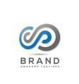 infinity logo design vector image