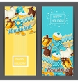 Jewish Hanukkah celebration banners with holiday vector image vector image