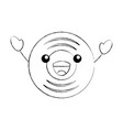 kawaii music vinyl disk vintage cartoon vector image vector image