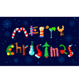 Merry Christmas hand drawing lettering vector image