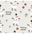 merry xmas seamless pattern vector image vector image