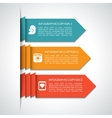 Modern arrow infographic elements vector image vector image