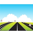 Much roads in field vector image