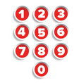 Number set label vector image vector image